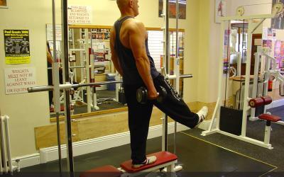 Bench One Leg Dumbbell Squat