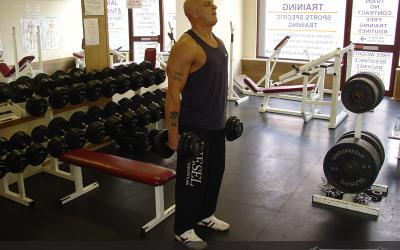 Dumbbell Squat To Bench