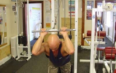 High Pulley Overhead Tricep Extension