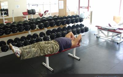 Lying Leg Raise With Hip Thrust