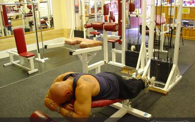 Lying Cable Hamstring Curl