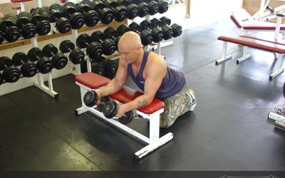 Neutral Dumbbell Wrist Curl Over Bench