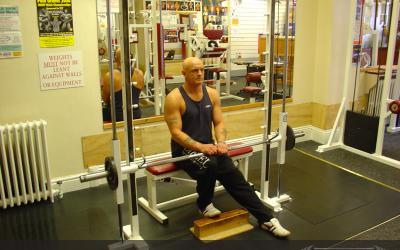 One Leg Smith Machine Seated Calf Raise
