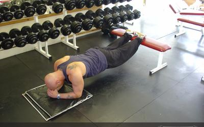 Plank With Feet On Bench
