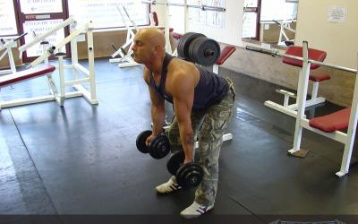 Reverse Grip Bent Over Dumbbell Row