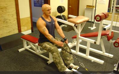 Seated High Cable Row