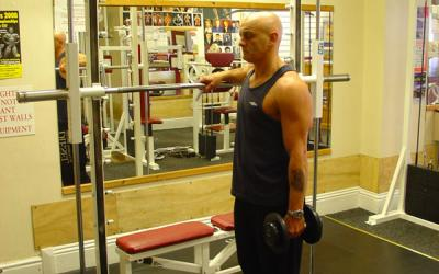 Standing One Leg Calf Raise With Dumbbell