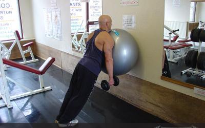 Exercise Ball On The Wall Calf Raise