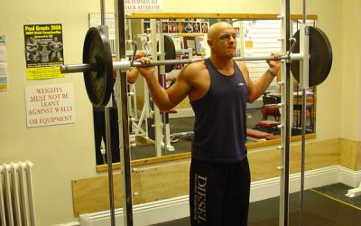 Toes Out Smith Machine Calf Raise