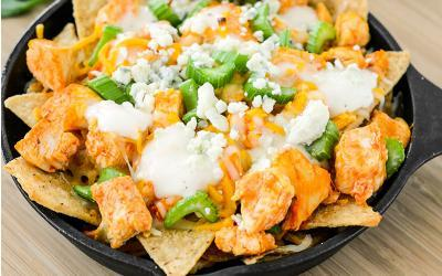 Buffalo Chicken Skillet Nachos Recipe