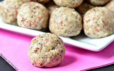No-Bake Coconut Corfetti Protein Bites