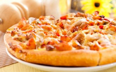 Salsa And Chicken Whole Wheat Pizza
