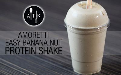 Amoretti Easy Banana Nut Protein Shake Recipe
