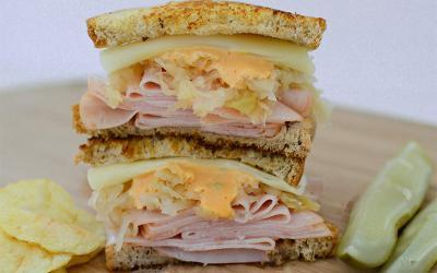High Protein Lean Turkey Reuben Recipe