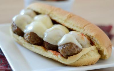High Protein Cheesy Meatball Sub Recipe