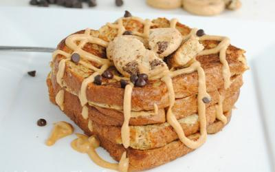 Peanut Butter Chocolate Chip Protein French Toast Recipe