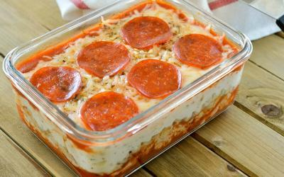 Deep Dish Pepperoni Pizza Lasagna Recipe