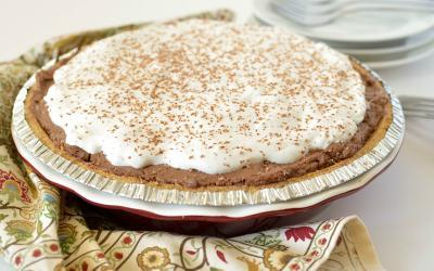 Chocolate High Protein Pudding Pie Recipe