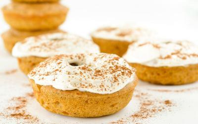 Pumpkin Spice Protein Donuts With Cream Cheese Frosting Recipe