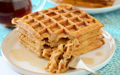 Hearty Pumpkin Spice Protein Waffles Recipe