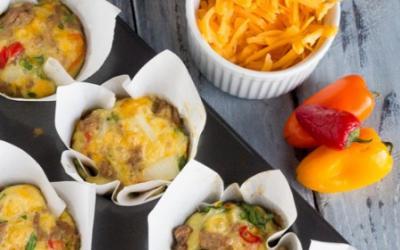 Mini Turkey Cheddar & Peppers Quiche