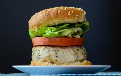 High Protein Ranch Turkey Burger Recipe