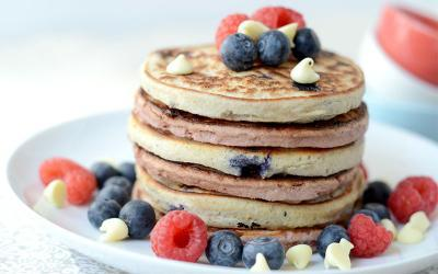 High Protein Red, White & Blue Pancakes Recipe
