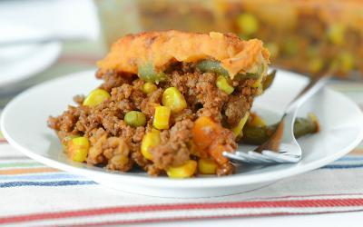 Protein Packed Sweet Potato Shepherds Pie