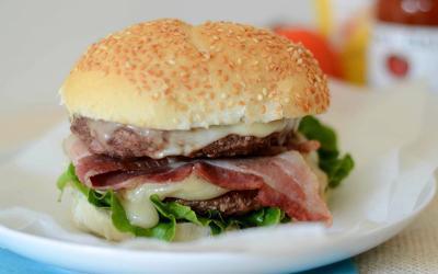 Bodybuilder's Double Beef & Bacon Cheeseburger Recipe