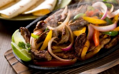 Grilled Skirt Steak And Poblano Fajitas