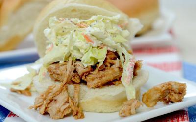 Summer BBQ Pulled Pork & Coleslaw Sandwiches Recipe