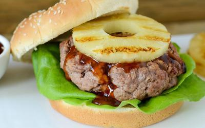 Half Pound Teriyaki Turkey Burger Recipe