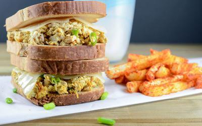 The Perfect Curry Tuna Melt (With Jicama Fries!) Recipe