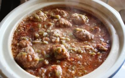 Crock Pot Turkey Meat Balls With Green Peppers