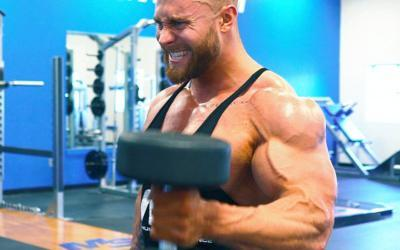 21 Year Old Bodybuilder Chris Bumstead's Big Arm Workout