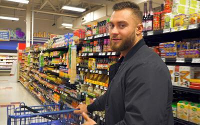Bodybuilding on a Budget: Grocery Shopping on the Road With Chris Bumstead