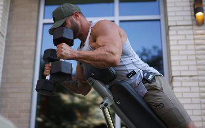 Bigger Biceps: 4 Unique Bicep Curls Using a Bench