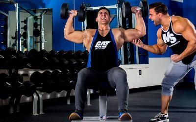 Sadik Hadzovic's 10,000LB Shoulder Press Challenge