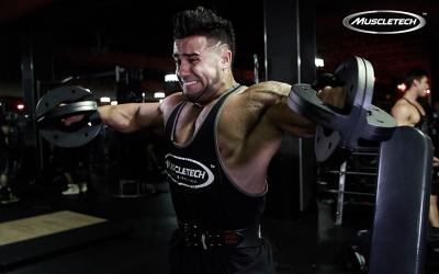 Santi Aragon's Massive Shoulder Workout