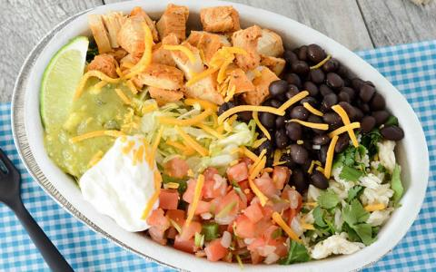 High Protein Chicken Burrito Bowl Recipe