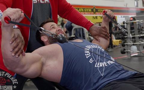 "Regan Grimes' Shoulder Workout at the Mecca w/ Chris ""Psycho"" Lewis"