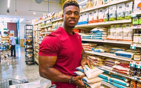 Grocery Shopping with Pro Bodybuilders w/ Steve Laureus