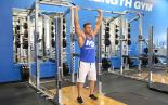 Barbell Overhead Front Raise