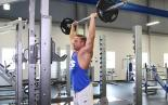 Overhead Barbell Shrug