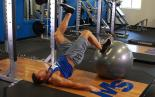 Single Leg Exercise Ball Leg Curl