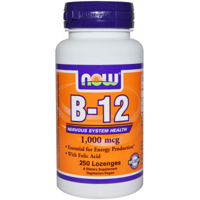 NOW B-12 With Folic Acid