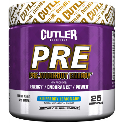 Cutler Nutrition PRE 25 Servings Blueberry Lemonade