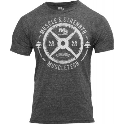 "MuscleTech M&S ""45 Plate"" T-Shirt Grey"