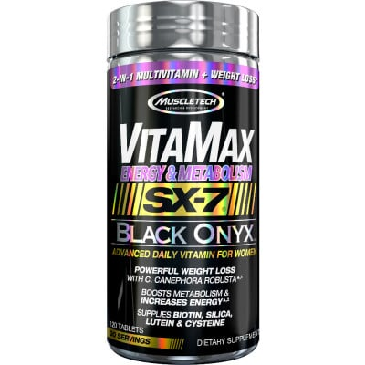 MuscleTech VitaMax Energy & Metabolism SX-7 Black Onyx for Women
