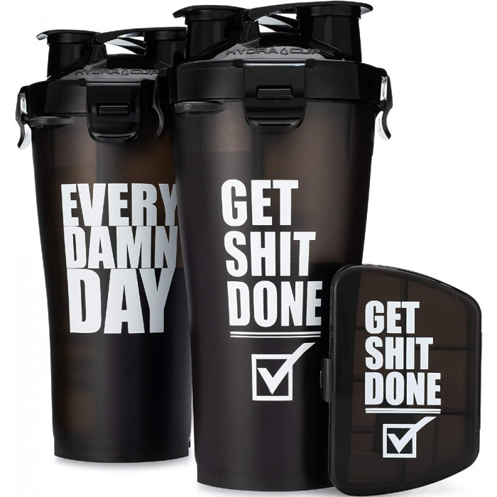 2 PACK + Pill Container - 36oz Hydra Cup